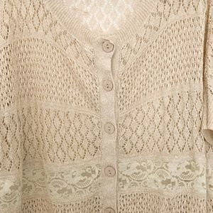 Anthropologie crochet and lace top